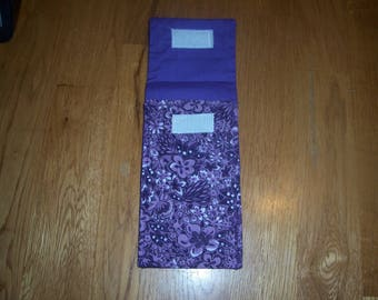 Purple Flowered Tampon Case
