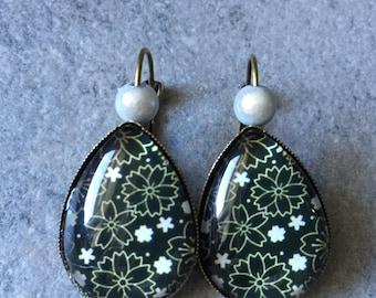 Earrings bronzes Japanese Daisy