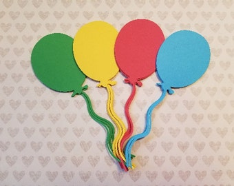Large Die Cut Balloons. 6 inches.  #WX-25