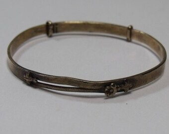 Vintage Baby Bracelet Storkette Gold Filled Adjustable   FREE Shipping j130