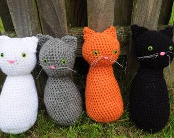 Crochet Cat- Black Cat- Cat Toy