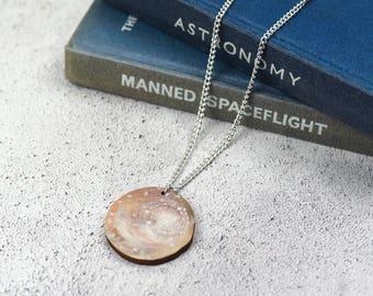 Callisto Moon Necklace | Galilean Moons | Laser Cut Jewellery