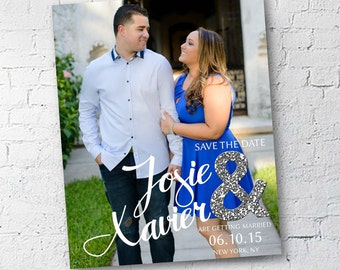 Wedding Save the Date | Glitter & Glam | Digital Download | Custom | 4x6 or 5x7