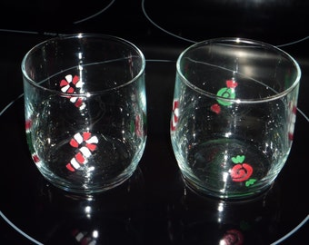 Votive Candle Holders, Christmas, Candy Canes, Snowmen, Festive, Holidays
