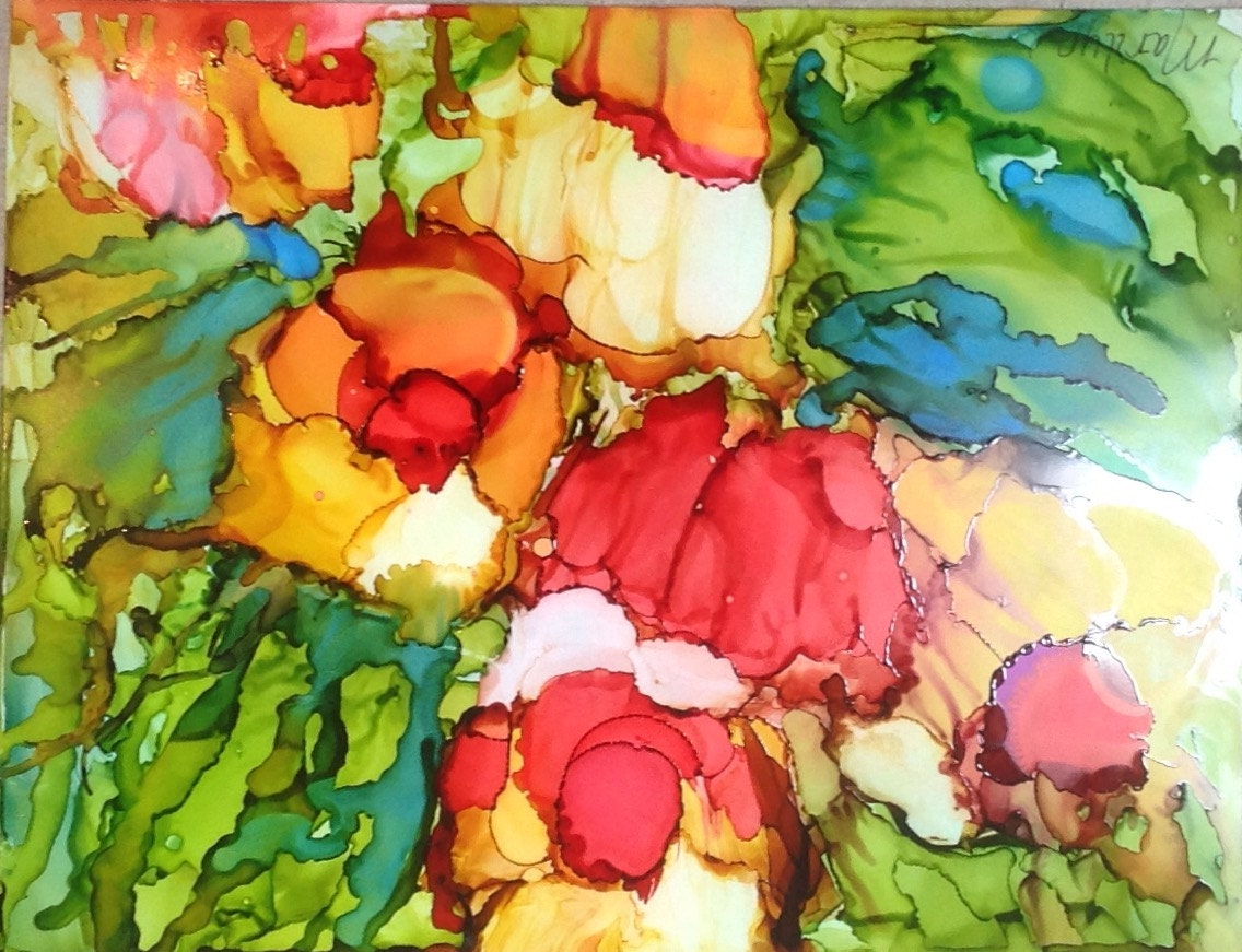 ink painting alcohol ink abstract painting free form