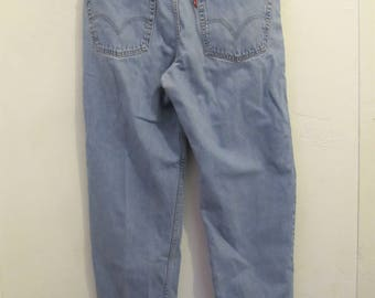 Men's Vintage Light Blue RELAXED Fit Jeans By LEVI'S 550.36x34