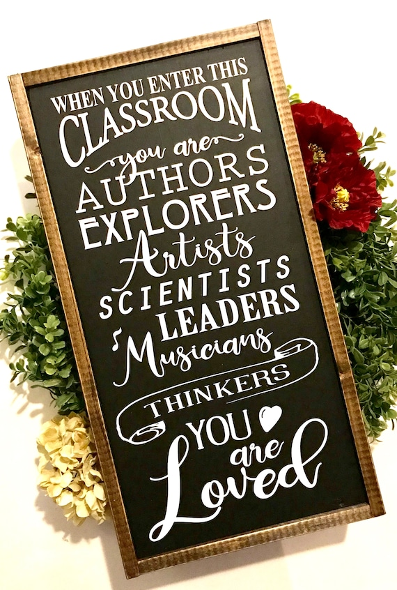 Classroom Sign | Teacher Sign | You Are Loved | In This Classroom | Farmhouse Sign | Fixer Upper | School Sign | Back To School | Kid's Sign