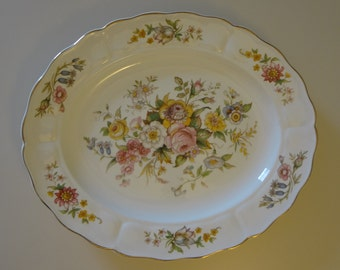 "Antique Grindley Marlborough Royal Petal Large 13"" 12"" Oval Platters."