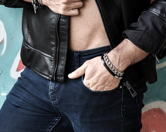 Men's Bracelet, Men's Bracelet, Men's Chain Bracelet, Men's stack Bracelet,Men's Gift, Men Bracelet, Bracelets For Men, Guy Bracelets