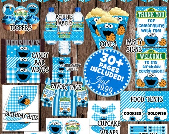 Cookie monster party Etsy