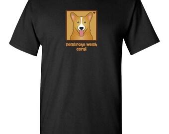 Pembroke Welsh Corgi Cartoon Heart T-Shirt Tee - Men's, Women's Ladies, Short, Long Sleeve, Youth Kids