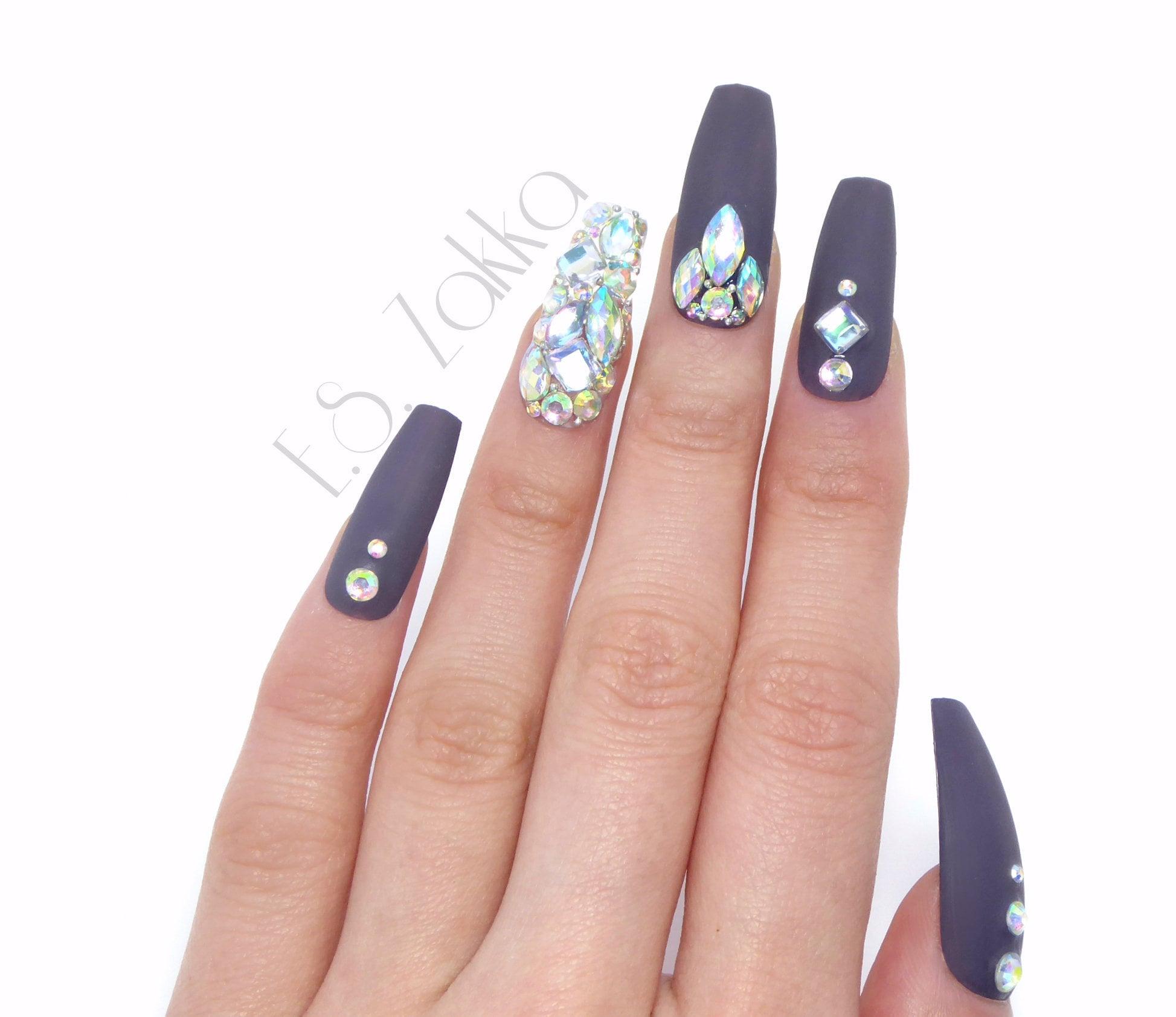 Raven Jewelry Nails / Fake nails, press on nails, nail art, gift ...