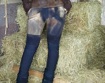 CUSTOM hand painted bamboo fleece Ruthless leggings pocket leggings eco friendly organic clothing