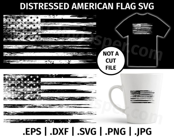Brand-new United States of America Distressed Flag SVG Design - Clip art  TG84