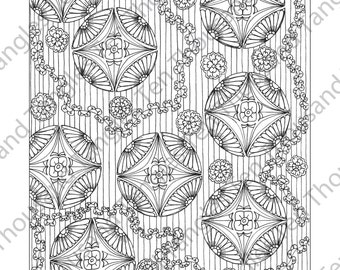 "Coloring Page - Zentangle® Inspired Art - ""ZIA 45"""