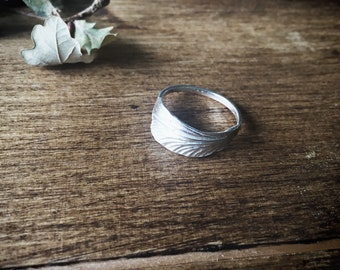 Sterling silver dragonfly wing ring, sterling silver ring