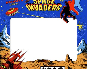 Space Invaders Arcade Monitor Bezel/Sticker/Decal