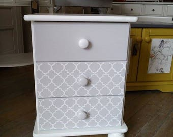 SOLD - Pretty Upcycled pine Bedside Table.