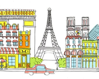 Paris Silkscreen Print