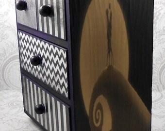 Dark Purple Nightmare Before Christmas Tim Burton Inspired Stash Jewelry Box