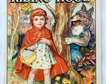 Vintage Children's Book: 1939 Linenette Book, Little Red RIding Hood