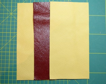3 COUPONS LEATHER COWHIDE AND GENUINE BUFFALO