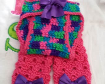 Crochet diaper cover and legwarmers\baby diaper cover and leg warmer crochet