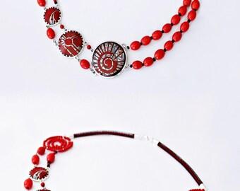 Chain of Cloisonne Enamel