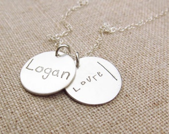 Mom Jewelry - Personalized Necklace  - ACTUAL Handwriting Jewelry -  Children's Handwriting Jewelry - Bridesmaid Gift