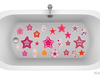 Non-skid vinyl decal for bathtub shower Mermaid