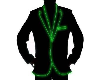 Light Up El Wire Suit Jacket Costume