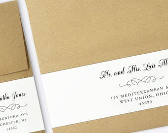 Wrap Around Labels Printable Address Labels Wedding Templates - Wedding invitation templates: wedding address label template