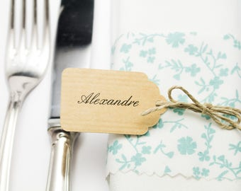 10 place card 3.2 x 5.3 cm custom labels with the names of your choice