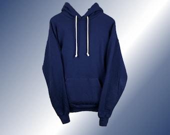 Hoodie - Cozy Navy / Oversized Dark Blue hood with natural cream drawcords / streetwear / baggy loose fit / Get the Yeezy season look