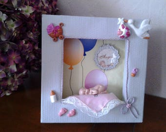 nice frame for a baby girl birth