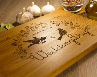 Couple  Cutting Board, Personalized Wedding Cutting Board, Wedding Gift for couple, Bridal Shower Gift, Personalized Wedding Gift, Custom
