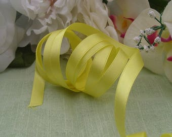 Ribbon satin yellow 9 meters polyester satin yellow chick width 1 cm for Hobbies Crafts sewing scrapbooking