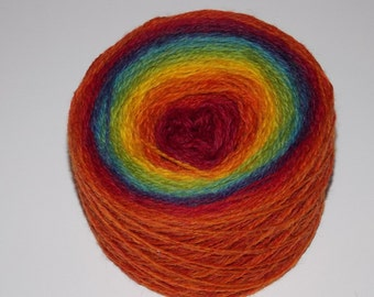 Kauni 8/2  Rainbow 100% Quality PURE Lambswool yarn, 100g for hand and machine knitting. Made in Estonia