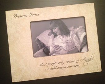 Infant Loss Frame Memorial Frame Child Loss Gift Remembrance Keepsake Miscarriage Memorial Pregnancy Loss Wood Picture Frame 4x6 Keepsake