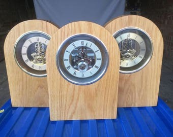 Mantle Clocks with Silver or Gold Skeleton Movements
