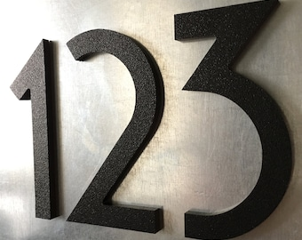 12 inch Magnetic Art Deco Numbers Letters for doors, houses, mailboxes, address