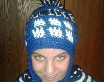 Dr Who earflap hat / beanie