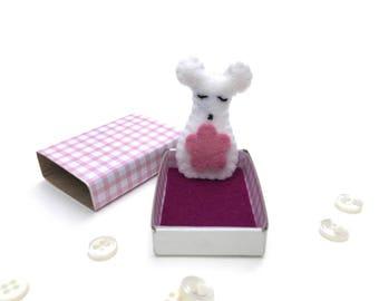 Matchbox Art, Felt Animals, Pocket Friend