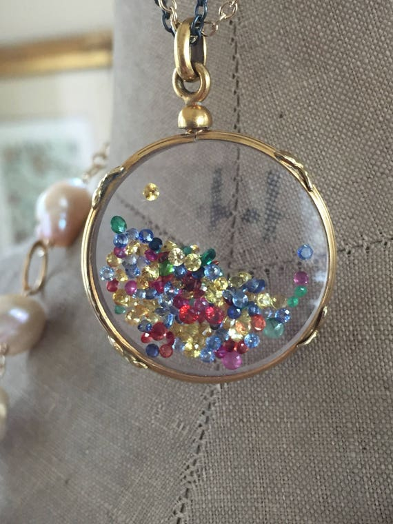 Shake It Locket Antique French Locket Shaker Locket