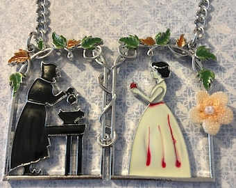 """Fairy tale Necklace """"Snow White""""-statement chain"""