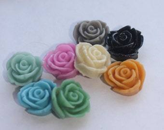 24 ROSE BUD Cabochons - 20mm - CHOOSE your Colors