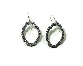 Ravenna studded frame earrings