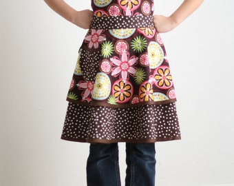 Child Pattern Luscious Layers Girls Apron PDF Sizes 3-12 #217
