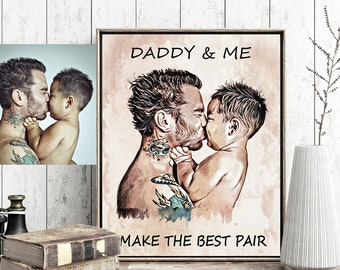 Personalized fathers day gift from daughter Custom Father's Day Gift from Son personalized dad gift for dad to be daddy and son