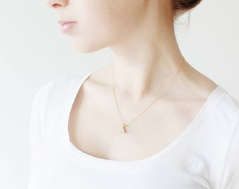 Modern Necklace, Glass Necklace, Gold Necklace, Necklace, Bridal Jewellery, Bridesmaids gift, Bridesmaids Jewelry, Minimalistic - Emma